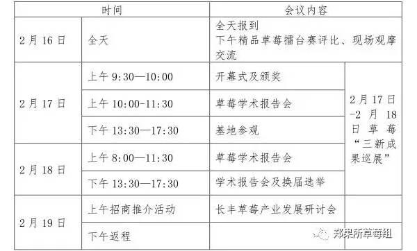 第八次中国草莓大会暨第十三届中国草莓文化节即将在安徽长丰召开